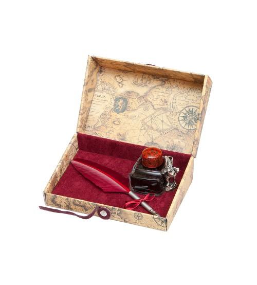 Письменный набор, бордо (Bx 66 bordo)