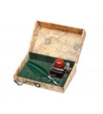 Письменный набор, бордо (Bx 66 green)