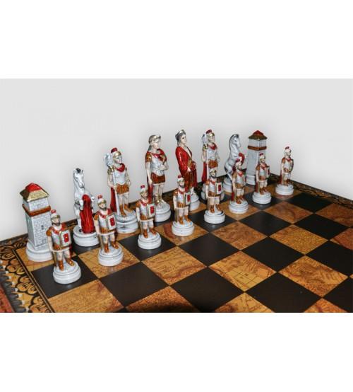 "Шахматные фигуры - ""Battaglia Romani Barbari"" (medium size) / ""Бой римлян с варварами"" (SP2425)"