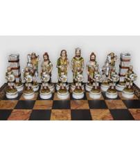 "Шахматные фигуры -""Battaglia Romani Barbari"" (big size) / Бой римлян с варварами (SP1415)"
