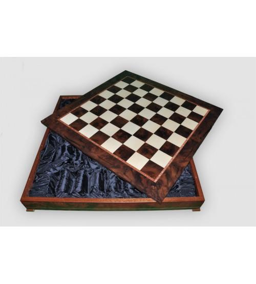 Box wood / Шахматное поле-бокс с местом для укладки шахмат (CD64G)